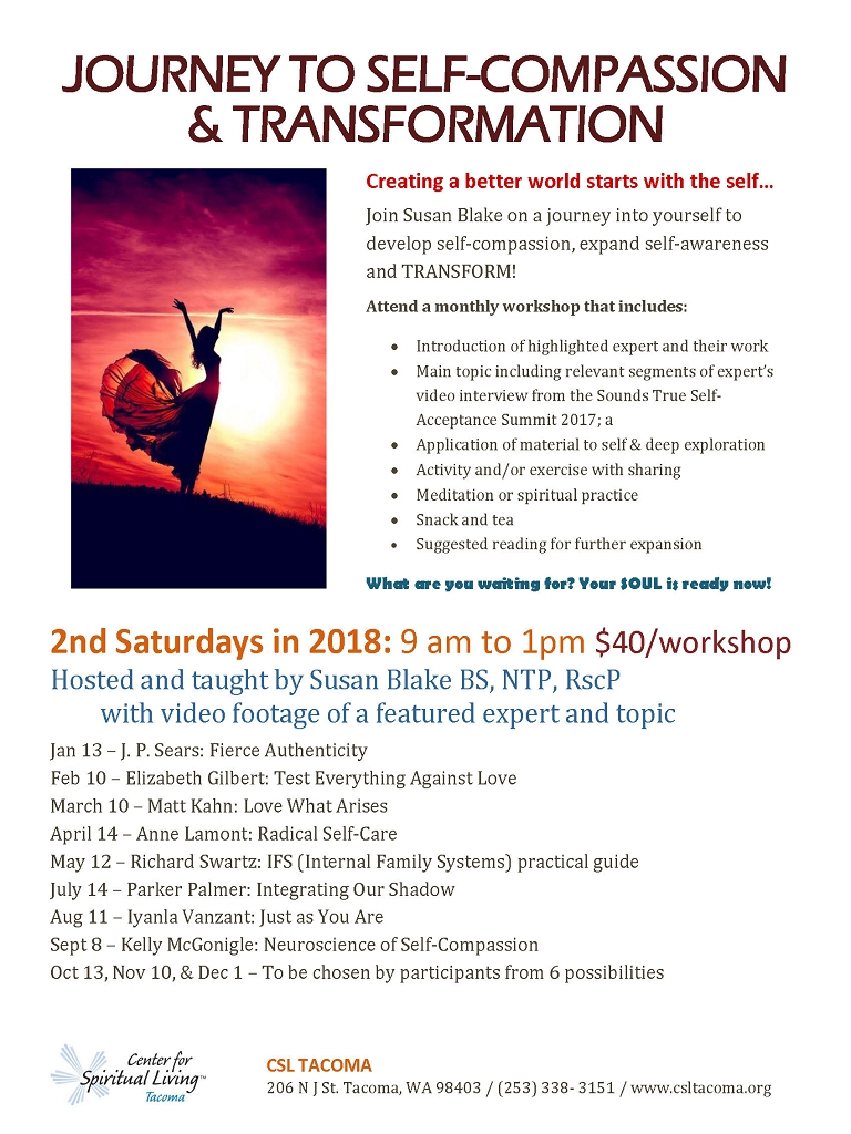 Journey to Self-compassion & Transformation Workshop | flyer