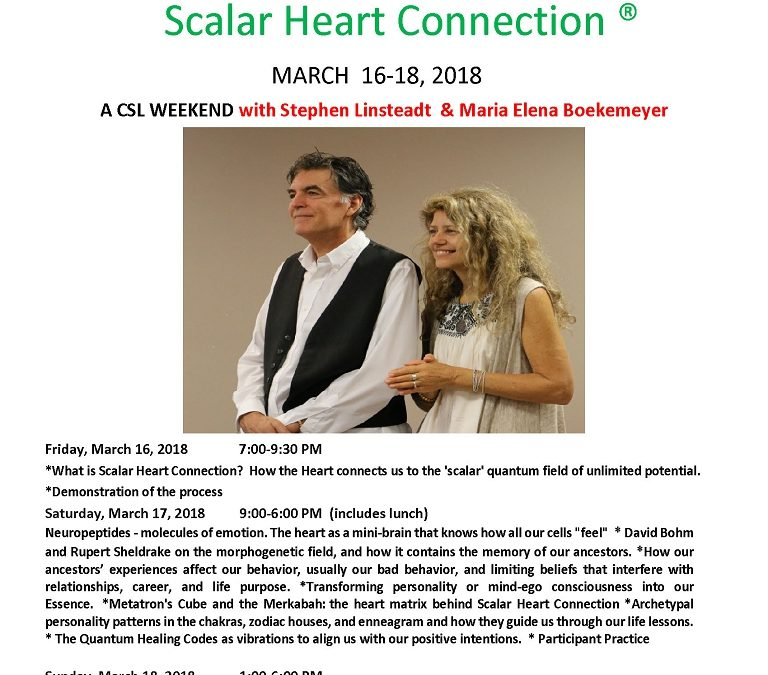 Scalar Heart Connection | March 16-18 | Day 1